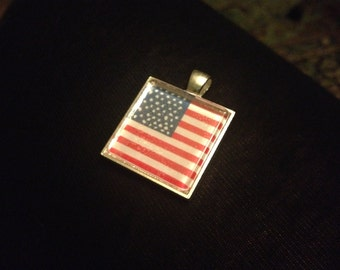 Choose any World Flag - Glass Tile Necklace -