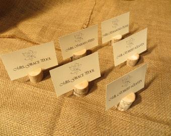 Set of Twenty-Five (25) White Birch Place Card Holders