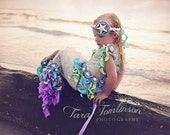 AQUAMARINE MERMAID Costume-Dress Up, Portraits, Birthday, Pageant, Halloween