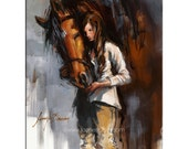 Crown Prince - Horse and Girl - 8x10 Matted Print