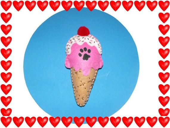 Cat Toy - Felt Catnip Ice Cream Cone Toy
