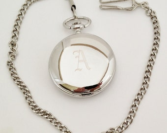 Groom Gift Idea Personalized Pocket Watch, Engraved Pocket Watch, Father of the Bride Gift Ideas, Groomsmen Gift Ideas
