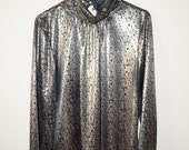 Cool, Washed Out, Thin, Silky Metallic Shirt