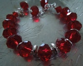 Ruby Red and Sterling Silver Bracelet
