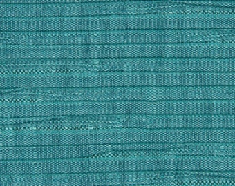 Aqua Blue Pleated Upholstery Fabric - Blue Textured Padded Headboard Material - Contemporary Aqua Blue Pleated Pillows with Cording