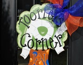 Auburn Football Door Hanger, Toomers Corner, Auburn Decor