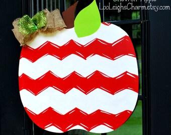 Door Hanger: Apple, Classroom Door Hanger, Back to School Door Decor, Classroom Sign, Teacher Gift