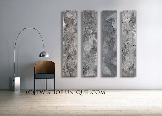Steel Abstract Paintings Custom 4 Panel 48 By Twistofunique