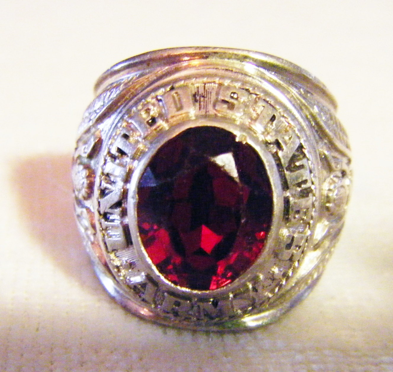 Antique United States Army Ruby Ring