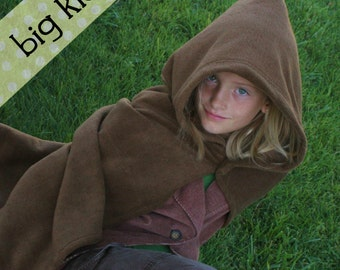 Big Kid Fleece Hobbit Cape Costume - 8, 10, 12, 14