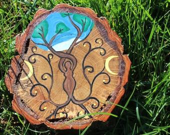 Handpainted Cherry Tree of Life Mandala