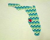 Home State Iron On Applique-- Choose Any State!!