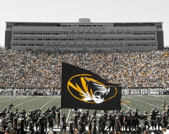 Mizzou Football Photography - University of Missouri - Columbia MO - Mizzou Art - Mizzou Tigers - MIZ ZOU - Faurot Field - Mizzou Art