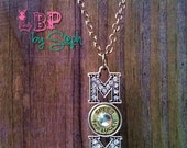 """9mm Ammo """"MOM"""" Crystal Pendant Necklace"""