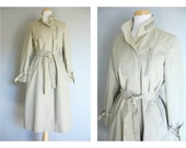 Vintage ZIPPER TRENCH COAT/Moto Trench Coat/Rain Coat/size Small-Medium