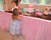 Custom Tulle Tutu Table Skirt Wedding, Birthday, Baby Shower