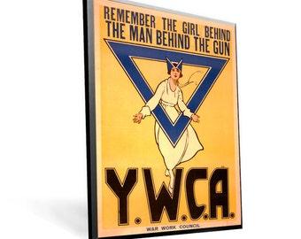 Vintage WPA Poster YWCA on 8x11 PopMount Ready to Hang Free Shipping