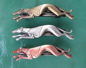 Greyhound French Barrette 50MM- Dog Lover Gift- Dog Rescue