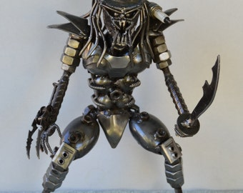 PREDATOR 12 inches, with Sword - Scrap Metal Art