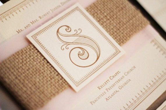 Wedding Invitations With Burlap