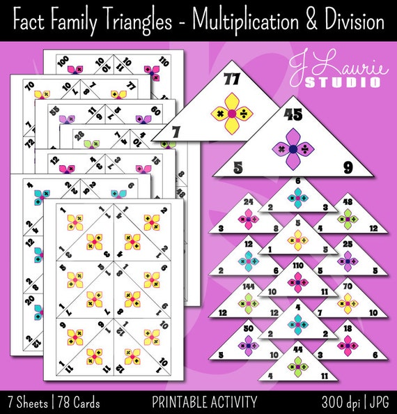 Number Names Worksheets fact triangles worksheets Free – Fact Triangles Multiplication and Division Worksheets