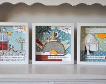 Made to order set - Your story in frames - personalised anniversary art