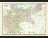 Vintage Map of Germany From 1935 Original