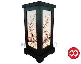 No Screw Design Asian Oriental Japanese Sakura Cherry Blossom Zen Art Bedside Floor Table Lamp Desk Paper Light Shades Gift Home Decor