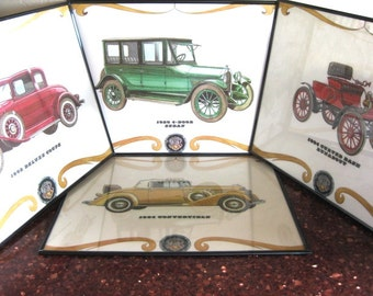 RETRO Cool 75th Anniversary of Oldsmobile Dual Sided Placemats GREAT Set of FOUR