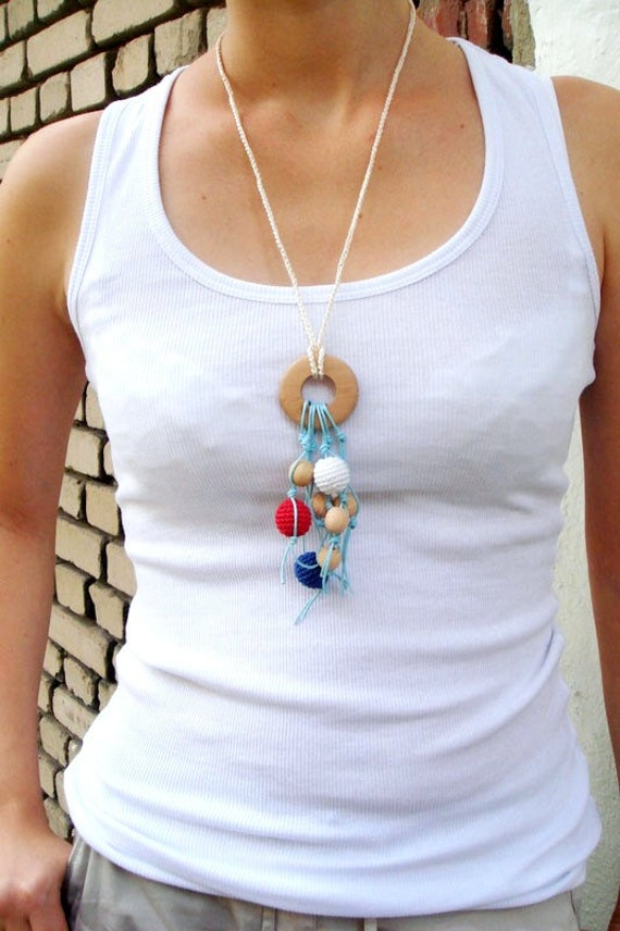 Teething Necklace with Ring Breastfeeding Baby wrap