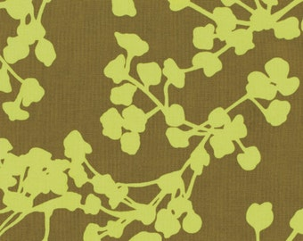 1 yard Amy Butler Coriander in Olive Green - Belle Collection - Westminster Fabrics - PWAB112 - LAST YARD