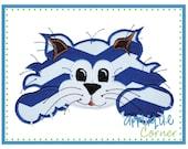 229 Wildcat applique design in digital format for embroidery machine by Applique Corner