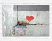 Love Graffiti, red heart art urban photography 8x10 - hayagold
