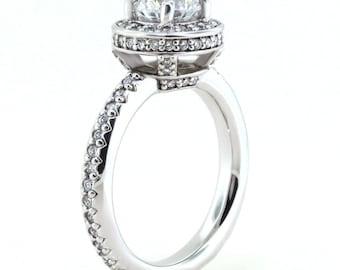Halo Moissanite Engagement Ring