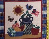 "Fabric Americana print fabric 16"" X 16"""