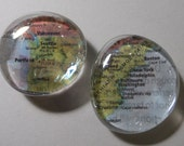 USA coast to coast traveler map Glass Magnets