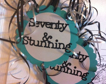 70th birthday decorations seventy a nd stunning double sided party