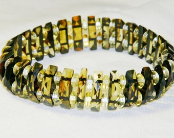 Baltic amber bracelet, faceted beads 2