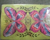 Psychedelic Butterfly Deck of Cards in Original Cellophane