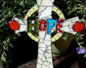 Hope Stained Glass Mosaic Wall Cross
