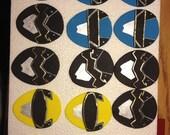 Set of 12 Power Rangers Fondant Cupcake/Cake Toppers