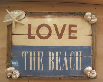 Beach Sign Coastal Home Decor Beach Sign Wooden Sign Beach