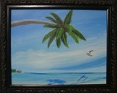 Jimmy's Paradise - Original Framed Painting - Last 2 days at this SALE price