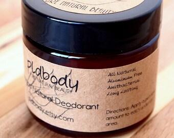 Peppermint Vegan Natural Deodorant, Unisex, Aluminum Free, Deodorant Cream, 2 Ounce