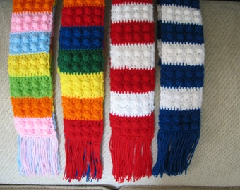 Pattern for Lego inspired crochet scarf