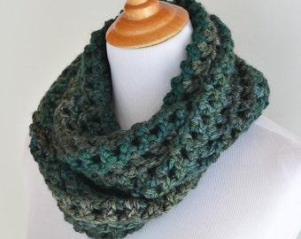 Infinity Teal Crochet Scarf