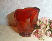 1940's Georgian Lemonade Pitcher Viking Glass Honeycomb