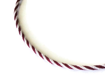 Kumihimo  braid necklace -- silver gray and red -- Ohio State colors