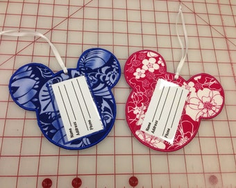 Mickey Mouse Head Luggage Tags