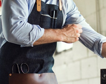 Selvedge Denim & Leather Apron - Made in U.S.A.
